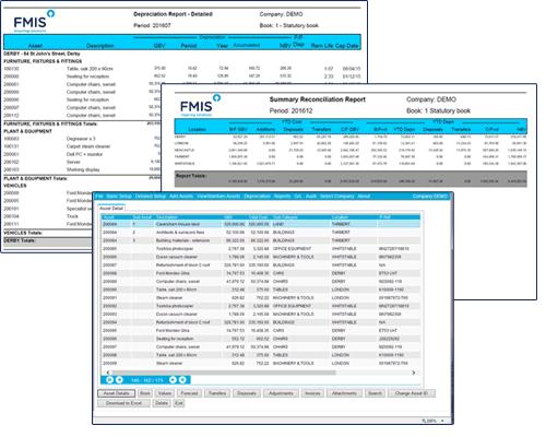 FMIS Fixed Assets Screen