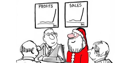 If Santa were an accountant Cartoon