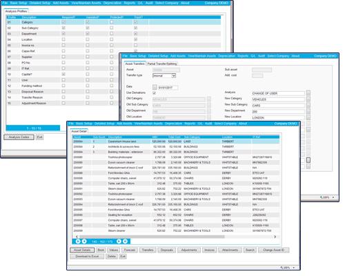 FMIS Asset Tracking Screens