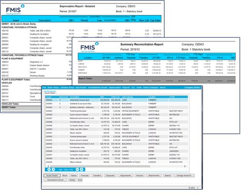 FMIS Fixed Assets Screen